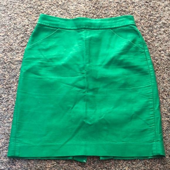 J.Crew Forest Green Pencil Skirt 2